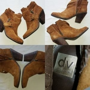 Dolce Vita DV Suede Booties Boots Brown Suede ankl